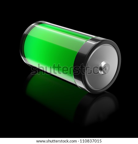 Battery filled with ecological energy