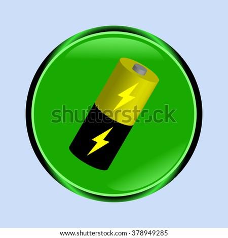 Battery icon - stock photo