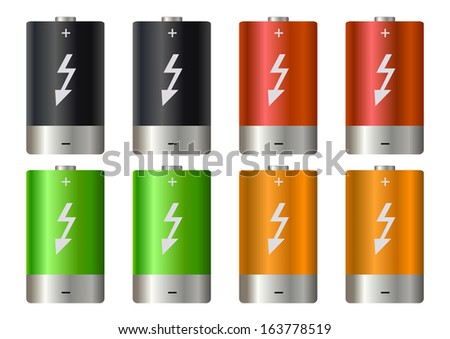 Battery illustration - stock photo