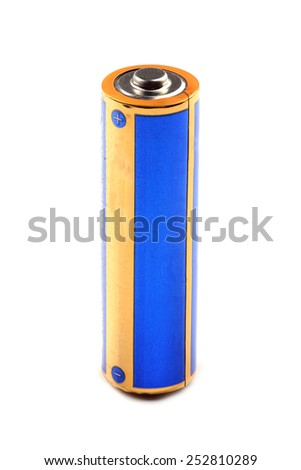 Battery isolated on white background - stock photo