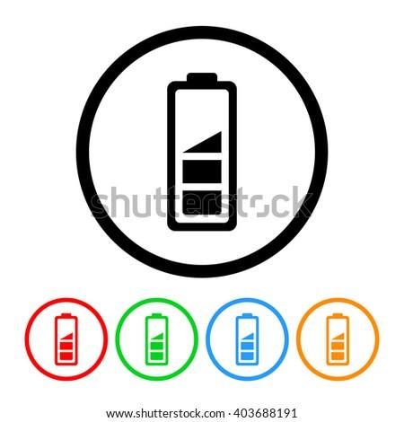 Battery Level Icon. Raster Version - stock photo