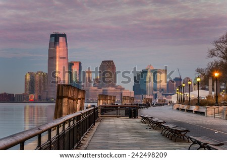 Battery Park at Dawn, New York - stock photo