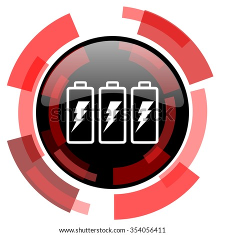 battery red modern web icon