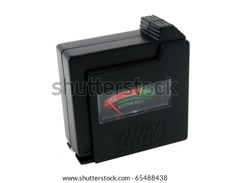Battery Tester - stock photo
