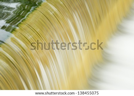 Battle Creek River cascade captured with motion blur, Michigan, USA - stock photo