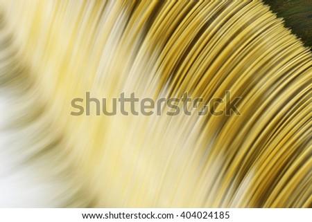 Battle Creek River cascade captured with motion blur, Michigan, USA - stock photo