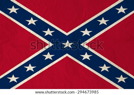 Battle flag of the Confederate States of America - stock photo