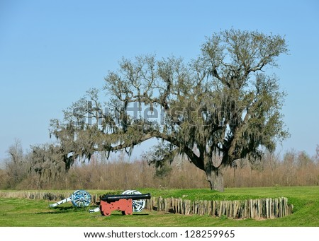 Battle of New Orleans Chalmette Battlefield - stock photo