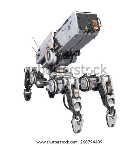 battle robot - stock photo