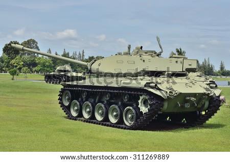 Battle tank - stock photo