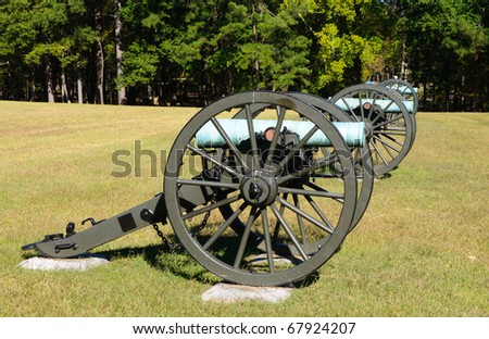 battlefield cannons - stock photo