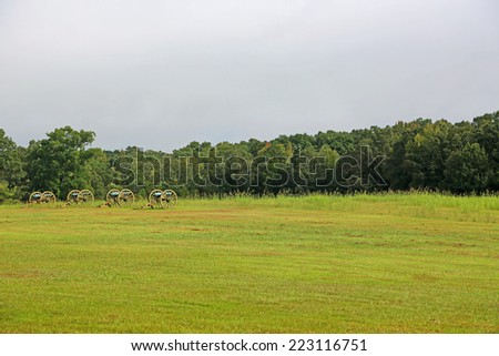 Battlefield - Shiloh National Military Park, Tennessee - stock photo