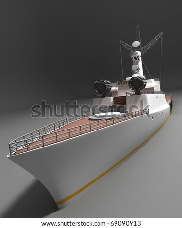 Battleship - stock photo