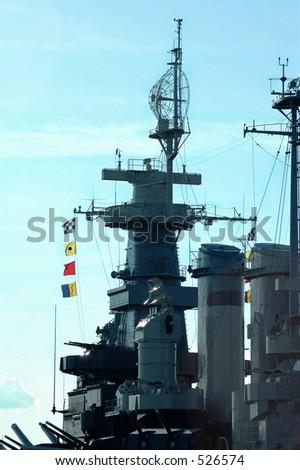 Battleship Bridge - stock photo