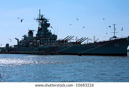 Battleship New Jersey - stock photo