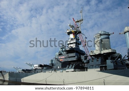 Battleship North Carolina at it's home in Wilmington