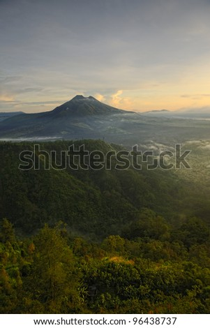 Batur Mountain - Kintamani - bali - stock photo