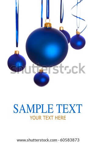 Baubles - christmas decoration - stock photo