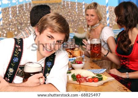 bavarian beer fest - stock photo