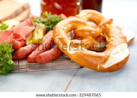 Bavarian Breakfast - stock photo
