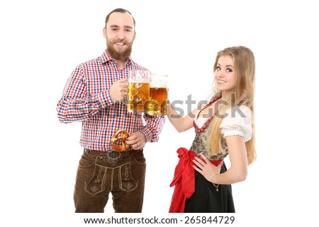 Bavarian Couple - stock photo