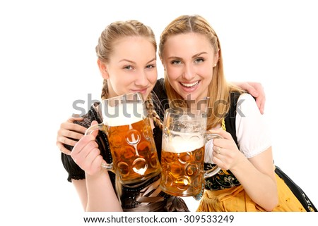 Bavarian girls - stock photo