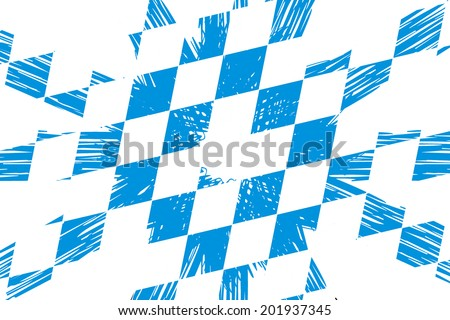 bavarian pattern, Oktoberfest - stock photo