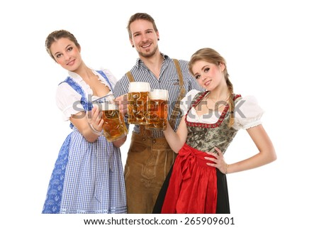 Bavarian people - stock photo