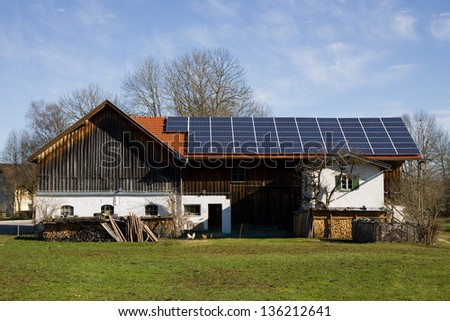 bavarian photovoltaic - stock photo