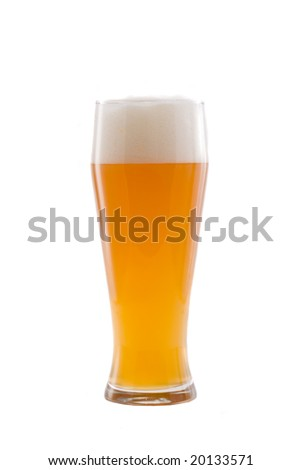 bavarian wheat beer isolated on white