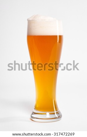 bavarian wheat beer isolated on white background
