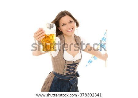 Bavarian Woman - stock photo