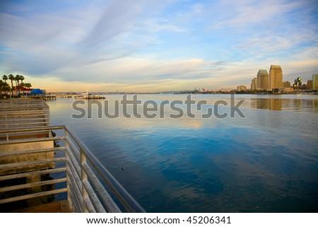 Bay between San Diego and Coronado California - stock photo