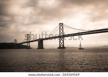 Bay Bridge in san Francisco - stock photo