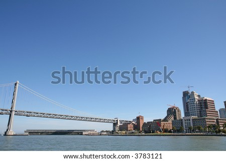 Bay Bridge in San Francisco - stock photo