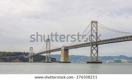 Bay Bridge, Landmark of San Francisco - stock photo