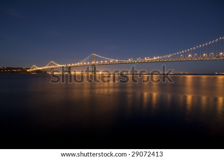 Bay Bridge, silky smooth water due to long exposure