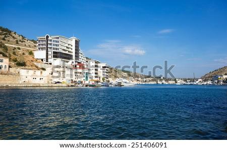 bay in Balaklava. Crimea. Ukraine. - stock photo