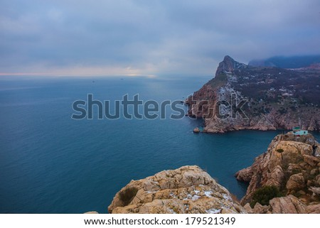 Bay of Balaclava, vicinity of Sevastopol, Crimea. - stock photo