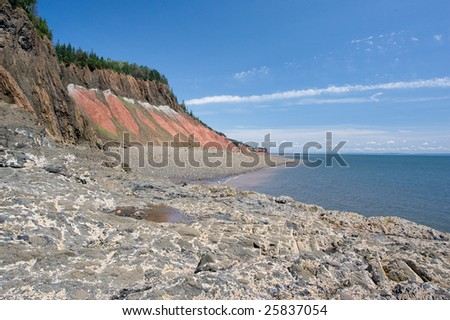 Bay of Fundy - stock photo