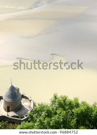 Bay of Mont Saint Michel in Normandy, France - stock photo