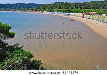 Bay of Sfinale, in Apulia, Italy. - stock photo