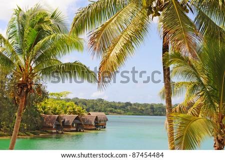Bay on Efate Island, Vanuatu - stock photo