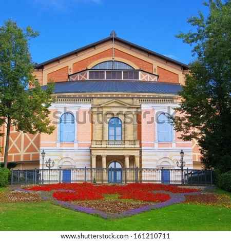 Bayreuth Festival Theatre  - stock photo