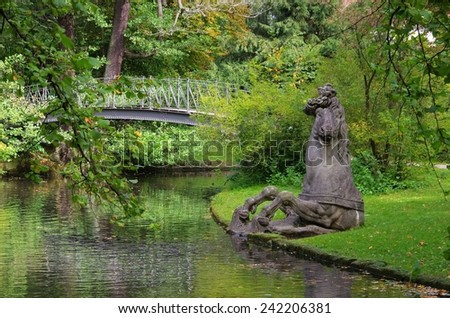 Bayreuth park - stock photo