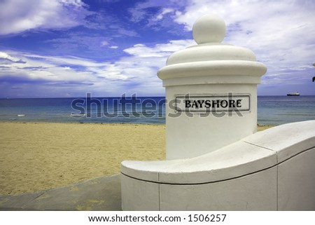 Bayshore, Ft. Lauderdale Beach, Florida USA - stock photo