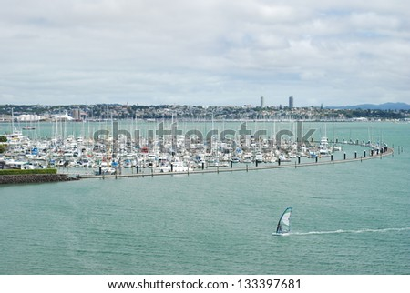 Bayswater Marina in Takapuna (Auckland, New Zealand) - stock photo