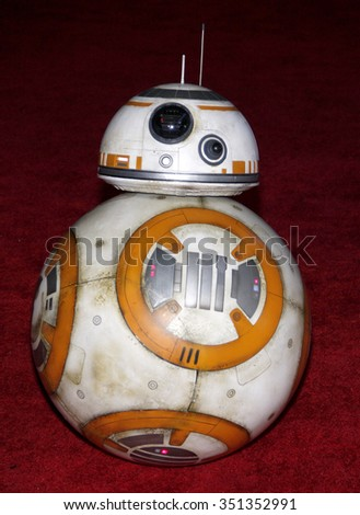 BB-8 at the World premiere of 'Star Wars: The Force Awakens' held at the TCL Chinese Theatre in Hollywood, USA on December 14, 2015. - stock photo