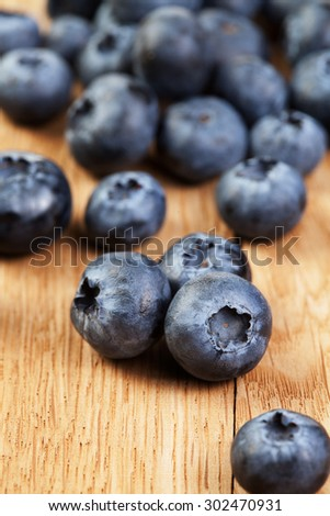 Bblueberry on wooden table - stock photo