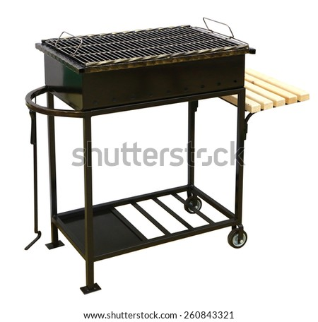 Bbq | brazier isolated - stock photo
